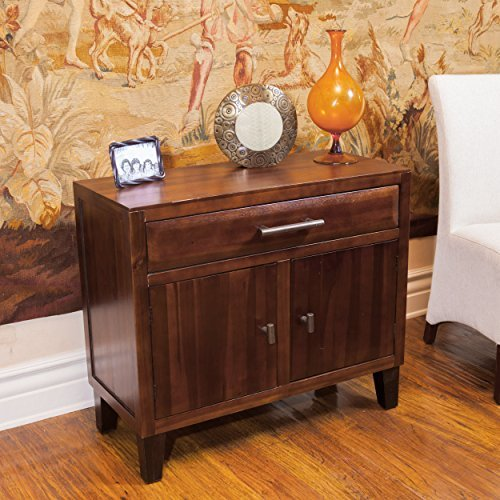 Glendora Solid Wood Storage Chest / Nightstand with Drawer by Great Deal Furniture