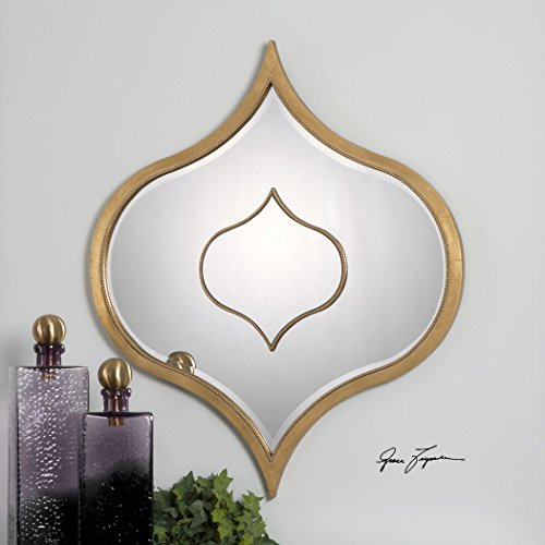 Elegant Large Arabesque Shaped Curved Wall Mirror