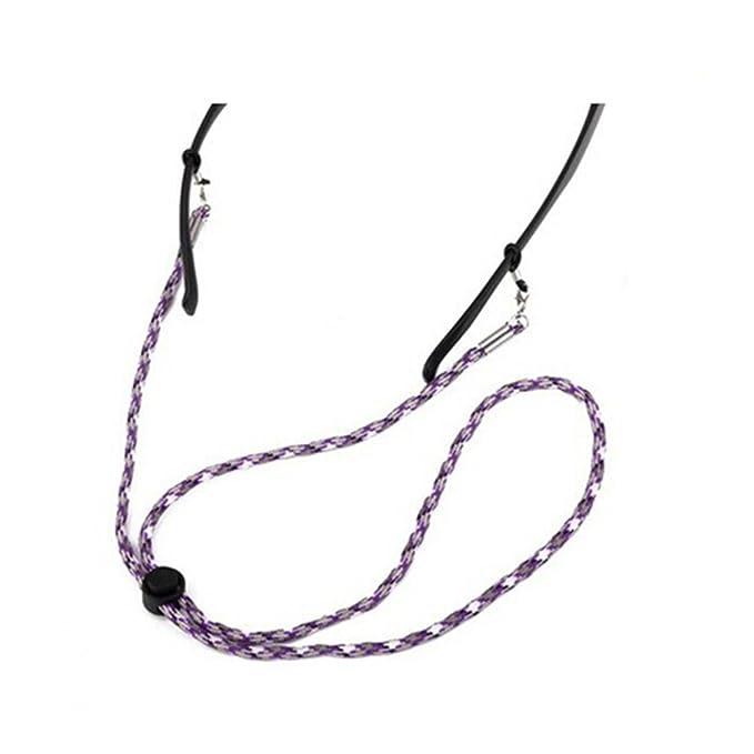TENDYCOCO Gafas Correa Poliéster ajustable Cadena Cadena Cuello Sujetador Gafas Gafas de seguridad Correa de seguridad