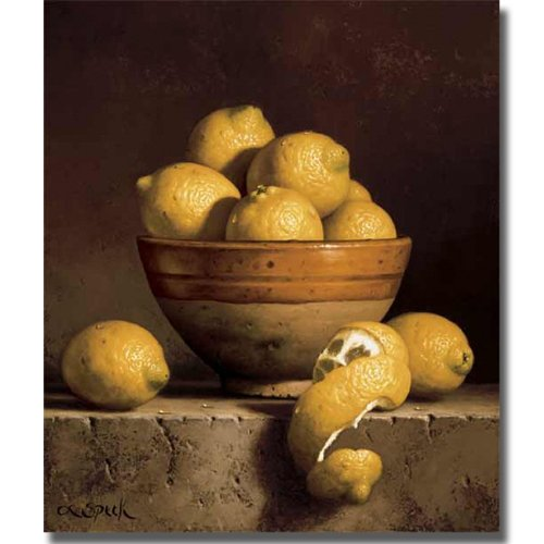 - Lemon in a Bowl with Peel by Loran Speck Premium Museum-Wrap Canvas Giclee (Ready to Hang)