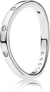 خاتم فضة للنساء من باندورا - 197113CZ-56 (56 EU)
