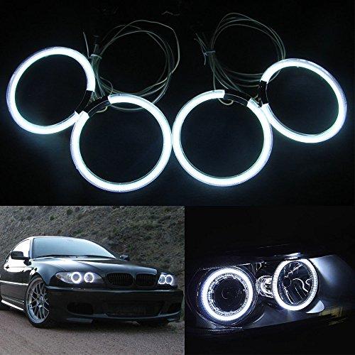 CCFL Angel Eyes Halo Rings Kit 105MM 4Pcs CCFL Halo Ring Light Car Bulb White (2d Coupe Led)