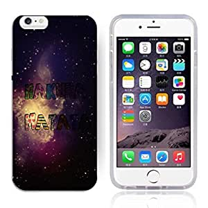 "Africa Ancient Proverb HAKUNA MATATA Color Accelerating Universe Star Design Pattern HD Durable Hard Plastic Case Cover for iPhone 6 Plus(5.5"")"