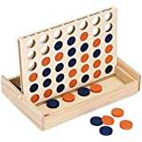 Sumnacon 4 in a Row Game, Four in a Row Wooden Board Game, Line Up 4, Learning Educational Classic Games/Toys For Children Family