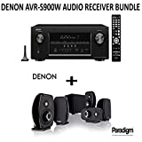 Denon AVR-S900W Bundle 7.2-Channel Network A/V Receiver with Bluetooth and Wi-Fi + Paradigm Cinema 100 Home Theater System