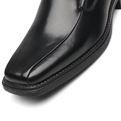 black Classic Loafers Business Leather Loaf Men for Men's Slip 1 La On Shoes Milano Casual Dress Comfortable awRqng8H