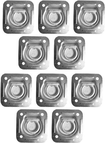 10 Recessed Trailer D-Rings for Enclosed Cargo Control Trailers Flatbed Trailers