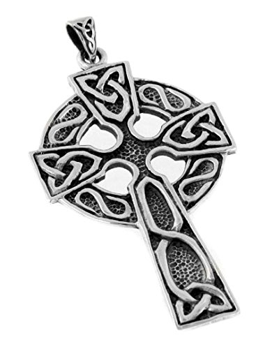 Sterling Celtic Cross - Large 2
