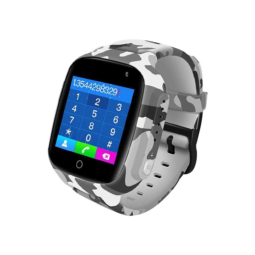 Binory Long Standby Kids Smart Watch Birthday Gift, IP67 Waterproof Dustproof Wrist Watch with SOS/GPS/WiFi/Base Station Multiple Positioning,Video/Voice Call,3MP HD Camera,School Gift(A) by Binory