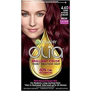 13. Garnier Olia Hair Color, 4.60 Dark Intense Auburn, Ammonia Free Red Hair Dye (Packaging May Vary)