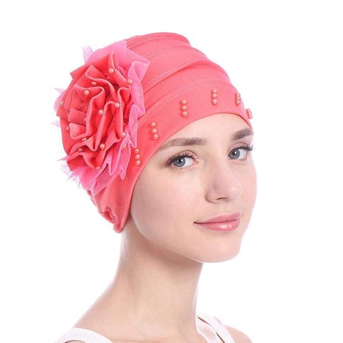 LiféUP Foulard della Signora Chemioterapia cap Colore Solido Cappello da  Berretto con Perla Elegante Copricapo di Turbante  Amazon.it  Abbigliamento ef84d20d4160