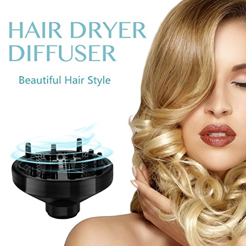 Professional Hair Dryer Blow Dyer Ceramic Ionic 1875W for Women Curly Hair Care Styling Tools Accessories with Diffuser Concentrator 2 Speed 3 Heat Settings by STORM TECH (Image #5)