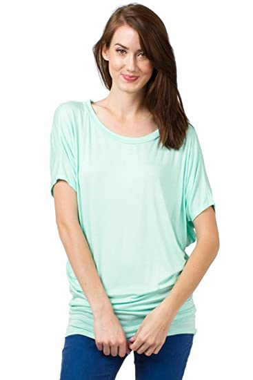 28cc58946f9 Fitscloth Fits Cloth Women's Short Sleeve Dolman Tunic Top T Shirt at  Amazon Women's Clothing store: