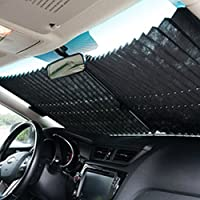 AMAZZANG-Auto Retractable Car Curtain Rear Window Shade Windshield Sunshade Shield Visor
