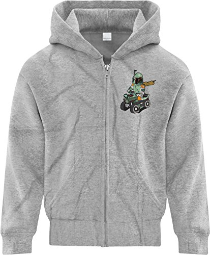 BSW Youth Boys Baby Fett Star Wars Tricycle Tank Zip Hoodie LRG Sport Grey
