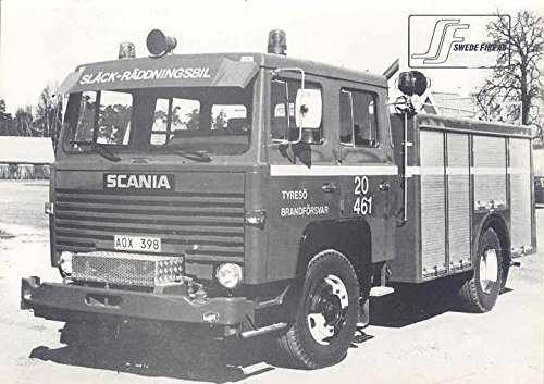 Amazon com: 1986 Scania Swede Fire AB Fire Truck Brochure