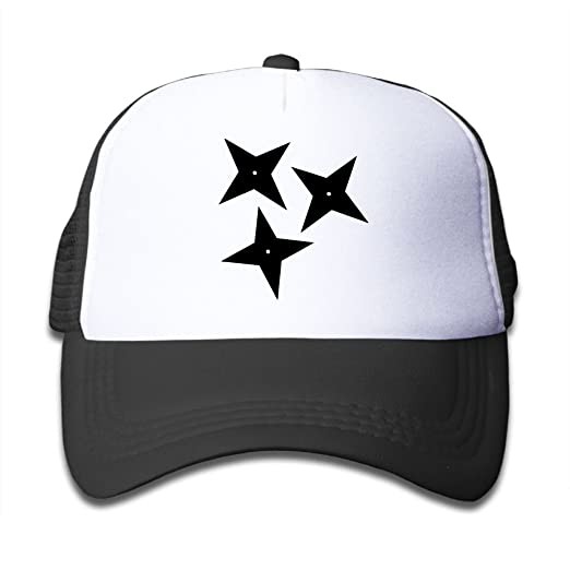 Amazon.com: YUI CAP Ninja Shuriken Star Funny Kids Snap Back ...