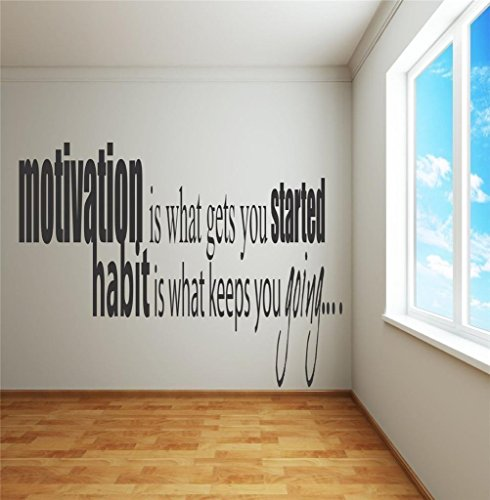 Inspirational Wall Transfer (Top Selling Decals - Prices Reduced : Best Selling Cling Transfer : Motivational Quote Life Success Inspirational Wall Sticker Size: 17 Inches x 23 Inches - 22 Colors Available)
