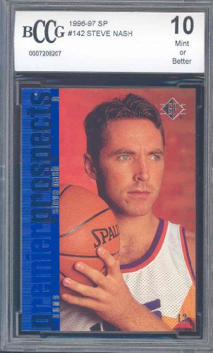 (1996 SP #142 STEVE NASH RC Rookie Card BGS BCCG 10)