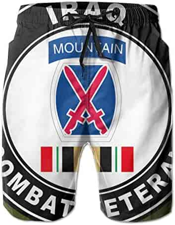 Army 6th Infantry Division Patch Mens Swim Trunks Board Shorts