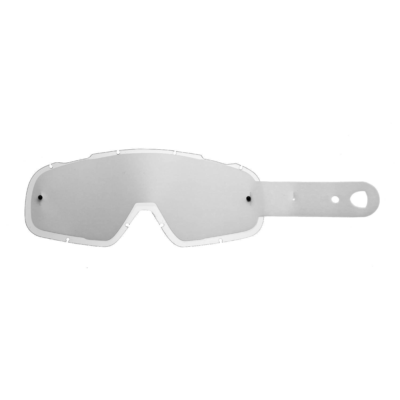 SeeCle 414F18 kombilinsen mit verspiegelten Linsen in rauchfarben mit 10 tear off kompatibel mit Fox Airspc Maske
