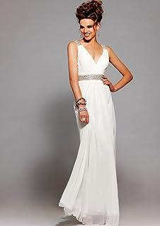 Yup Dress Yup Dress Charming A-line V-neck Beading Backless Chiffon Floor-