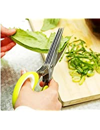 Acquisition 5 Blades Stainless Steel Kitchen Herb Craft Shredding Paper Cutting Scissors by Abcstore99 discount