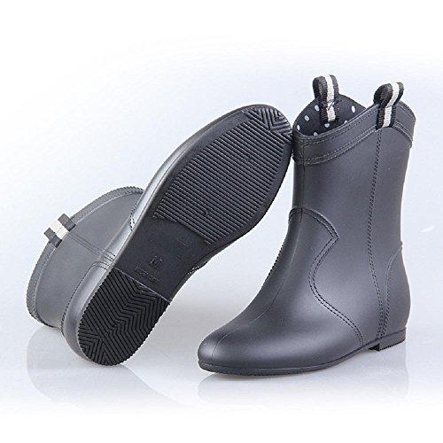 moda adulto pioggia black stivali antiscivolo signora pvc stivali O8qa11