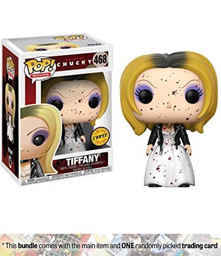 Funko Tiffany (Chase Edition) POP! Movies x Bride of Chucky Vinyl Figure + 1 Classic Horror & Sci-fi Movies Trading Card Bundle (20117) ()
