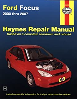amazon com haynes repair manual ford mercury focus 2000 thru 2007 rh amazon com Haynes Repair Manuals Mazda Haynes Repair Manual Online View