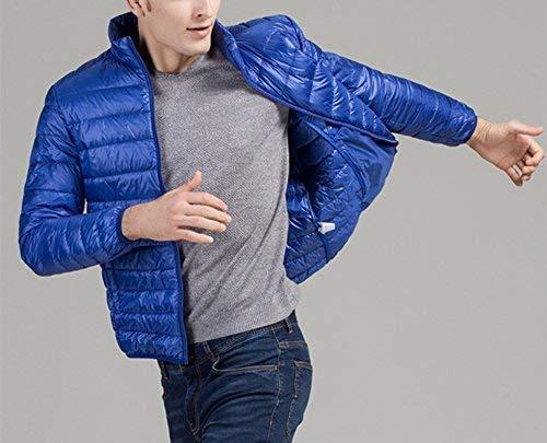 Cappotto Cappotto Giacca Giacca Giacca Long Uomo Blau Warm Down Manica Stile Semplice Unita Ultralight Cappotto Tinta Invernale Giubbotto Giù Lunga IzwxqY5Oaw