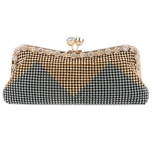 Chain Clutch Wallet Grey Evening Womens Dress Bags Bags Party Shoulder Ladies Purse Wedding wUnIx8Zqp