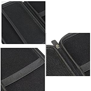 "7"" Inch Hard Carrying Travel GPS Bag Pouch GPS Case Cover Protective for 6"" 7"" GPS Navigation Garmin Nuvi 65LMT 2797lmt 2798LMT 2757LM 2789 Dezl 760lmt Tomtom Magellan Roadmate GPS Devices Black"