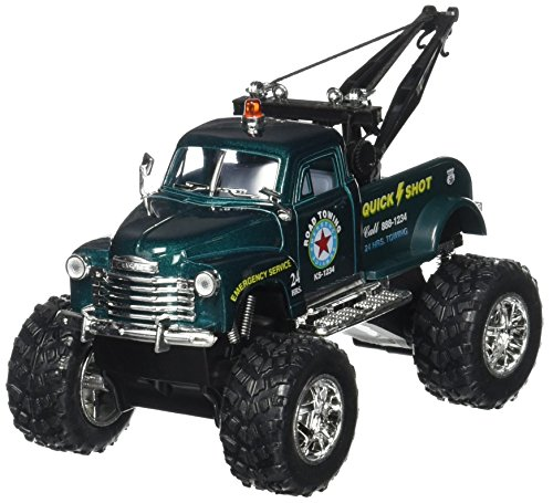 Chevrolet Wrecker - 1953 Chevrolet 3100 Wrecker In Dark Green Diecast 1:38 Scale By Kinsmart
