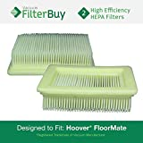 2 - Hoover FloorMate Washable HEPA Filters, Part # 40112050. Designed by FilterBuy to fit All Hoover FloorMate Upright Vacuum Cleaners