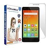 Cellbell Premium Xiaomi Redmi 2 / Redmi 2 Prime / Redmi 2s (Clear) Tempered Glass Screen Protector (Comes with Warranty,User guide,Complimentary Prep cloth)/Bronze Edition