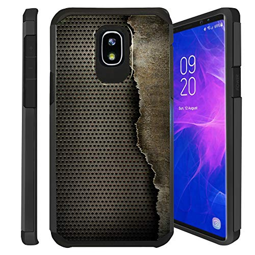 Untouchble Case for Samsung Galaxy J3 2018, Express Prime 3, Amp Prime 3, J3 Orbit, J3 Achieve, J3 Star, Sol 3 Case [Shock Bumper] 2 Piece Hybrid Case with Smooth Slim Finish - Metal Grid