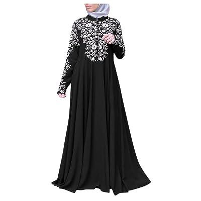 Women Muslim Dresses Casual Vintage Kaftan Arab Jilbab Abaya Evening Gown Islamic Lace Plus Size Maxi Dress: Clothing