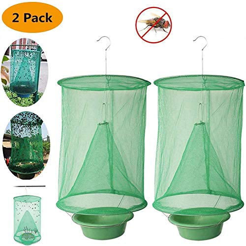 Insectpaper Fly Trap Garden Ranch Orchard Trap,Ranch Fly Trap Flay Catcher, The Most Effective Trap Ever Made with Pots Flay Catcher 2019 New Fly Red Drosophila (2Pack)
