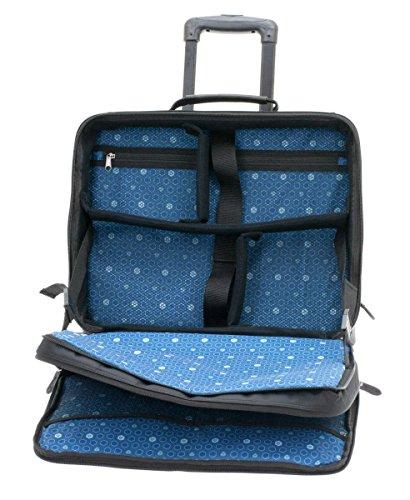 Davidts Berckely Echt Leder Pilotenkoffer Aktenkoffer Business Laptop Trolley Bag Schwarz 452 081 Bowatex