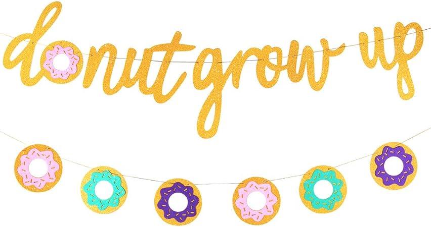 Amazon.com: Guirnalda con purpurina de donut para fiestas de ...