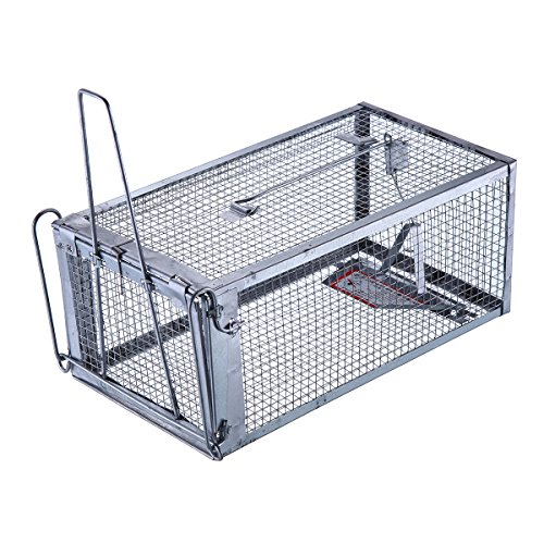 Trapro Humane Rat Cage Trap for Rats Mice Chipmunks Squirrels and Other Similar-Sized Rodents (Trap Cage Rat)