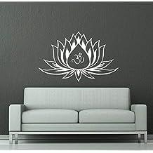 Wall Decals Lotus Flower Mandala Ornament Indian Geometric Moroccan Pattern Namaste Yoga Wall Vinyl Decal Stickers Bedroom Murals