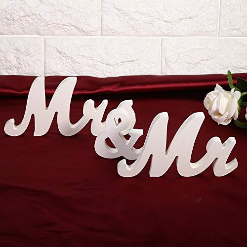 Mr Mrs Letters - Wedding Decoration Mr Mrs Signs Letters Decor Lettersmr Sign - Bunting Decorations Letters Table Banner Party Decorations Wedding Halloween Make Saturn Children Sweetheart T]()