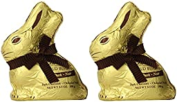 Lindt Gold Bunny Dark Chocolate 3.5oz (Pack of 02)