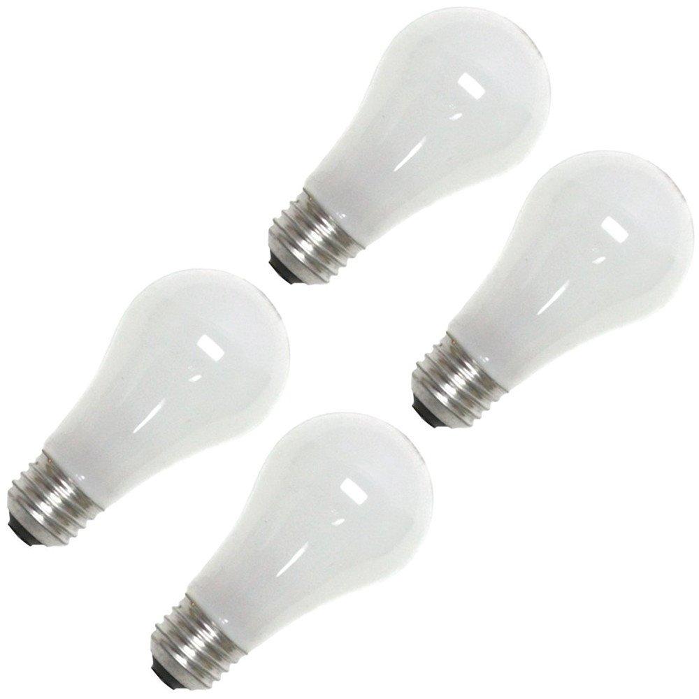 OSRAM SYLVANIA 50018 TUNGSTEN HALOGEN LAMP, A19, 53 WATTS, 120 VOLTS, MEDIUM ALUMINUM BASE, SUPER SOFT WHITE, (4 PER BOX)