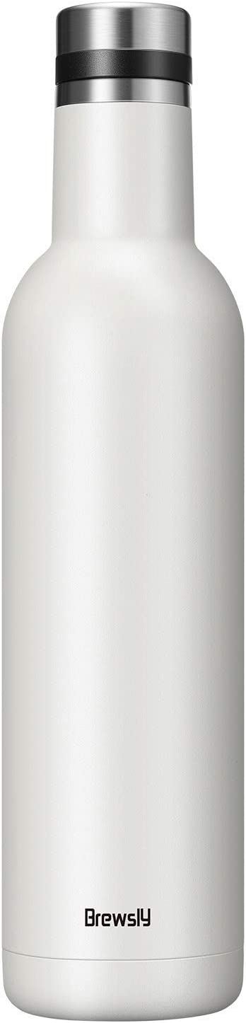 500ML de Doble Pared con Aislamiento Botella T/érmica Resistencia al Rayado Negro Proceso de Recubrimiento en Polvo Acero Inoxidable 18//8 Brewsly Botella de Agua F/ácil de Limpiar