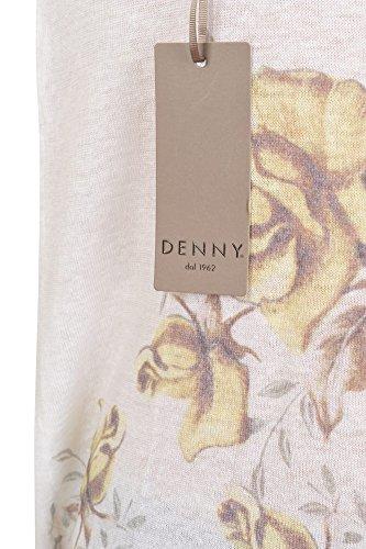 Denny Pullover Damen Weiß Hellgrün Regular Fit Leinen Casual 38 BDbyMD3PpA