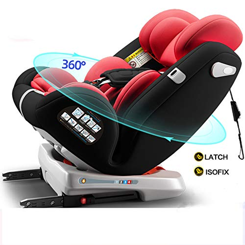 MROSW Baby Car Seat for Child, Group 0+/1/2/3 (0-36 Kg/0-12 Year), Reclining Car Seat, 2 Layer Impact Protection, Top Tether Rotation 360°,Black