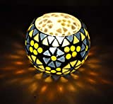 Rajasthani Handmade Mosaic Glass Candle Holder Christmas Gift 3 Inches